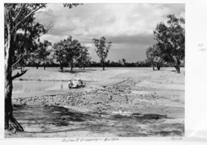 Channel Country - Bulloo River crossing, 1955