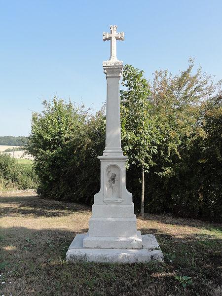 Récourt-le-Creux (Meuse) croix de chemin est