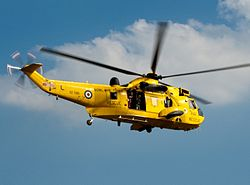 Sea King HAR3 of No. 202 Squadron (E-Flight) based at RAF Leconfield.