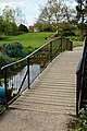 RHS Garden Hyde Hall, Essex, England ~ Lower Pond footbridge.jpg