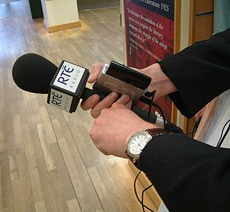 RTÉ Radio - RTÉ Radio microphone in 2004