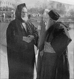 Rabbi Avraham Abuchazira and rabbi Moshe Meir Chai Elyakim.jpg