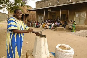 Appropriate technology - The Universal Nut Sheller in use in Uganda, an example of appropriate technology