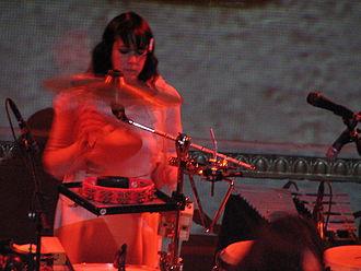 Rachel Blumberg - Rachel Blumberg playing drums for Bright Eyes