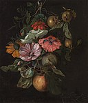 Rachel Ruysch - Festoon of flowers hanging on a nail - National Gallery Prague.jpg