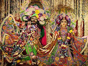 ISKCON Temple Delhi - Image: Radha Parthasarathi at ISKCON Delhi