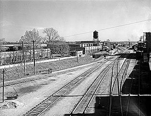File:Rail Yard, Depot, Texas and Pacific Railway Company ... Pacific Railway Company