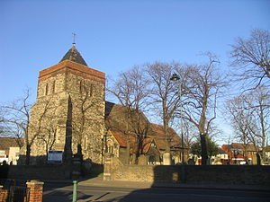 Rainham, London - Church of St Helen and St Giles is the oldest building