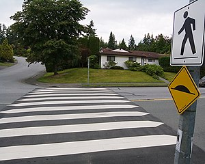 Raised crosswalk (likely located in British Co...