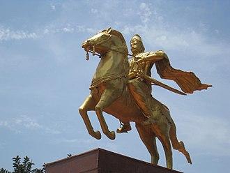 Raja Raja Chola I - Modern statue of Rajaraja I in Thanjavur