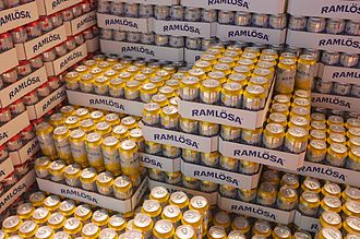 Ramlösa - Different varieties of Ramlösa mineral water sold in Sweden.