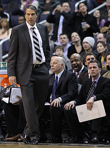 Randy Wittman nel 2011, durante una partita dei Washington Wizards