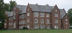 National Register of Historic Places listings in Atchison County, Missouri - Image: Rankin Hall (Tarkio, MO) from NE 2