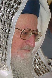 Mordechai Eliyahu Chief Rabbi of Israel (1983–1993)