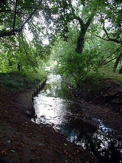 tributary of the River Thames in south London, England
