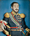 Rei D. Miguel I, relevo em terracota policromada (1.ª metade, séc. XIX).png