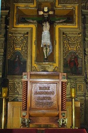 Peter of Jesus Maldonado - Image: Reliquias de San Pedro de Jesús Maldonado