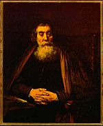 Rembrandt Old Man in an Armchair, possibly a portrait of Jan Amos Comenius.jpg