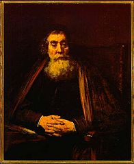 Old Man in an Armchair, possibly a portrait of Jan Amos Comenius