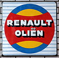 Renault Oliën, Enamel advert sign at the den hartog ford museum pic-047.JPG