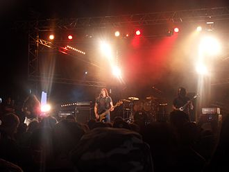 Repulsion (band) - Repulsion performing live in 2009. From left to right: Mike Beams, Scott Carlson, Col Jones, Matt Olivo.