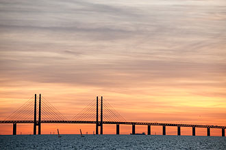 Nordic countries - The Öresund Bridge between Malmö in Sweden and Copenhagen in Denmark