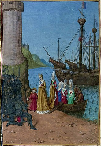 Invasion of England (1326) - Isabella of France landing in England with her son, the future Edward III of England