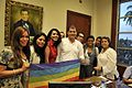 Reunión Histórica entre Representantes activistas LGBTI TILGB GLBTI Silueta X Diane Rodriguez con el Presidente de Ecuador Rafael Correa Meeting Commitments President Correa and LGBTI.jpg