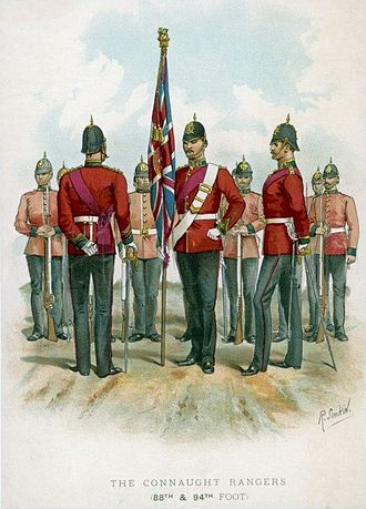 "Connaught Rangers - ""The Connaught Rangers"" by Richard Simkin (1840–1926)"