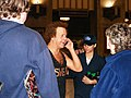 Richard Simmons speaking to fan friends over cell 2009.jpg