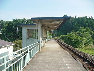 Rikuzen-Minato Station - Rikuzen-Minato Station in June 2007