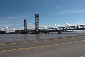Rio Vista, California - Bridge across the Sacramento River at Rio Vista