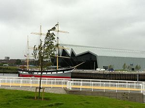 Riverside Museum - The Riverside Museum and Tall Ship from Govan