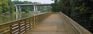 Williamston, North Carolina - Boardwalk along the Roanoke River in Williamston
