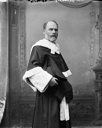 Robert Sedgewick (judge) - The Honourable Mr. Justice Robert Sedgewick, May 1896