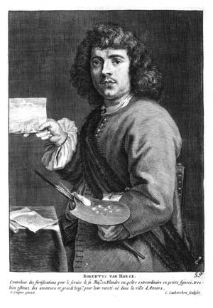 Cornelis Van Caukercken - Robert van den Hoecke, from Cornelis de Bie's Het Gulden Cabinet, 1662.