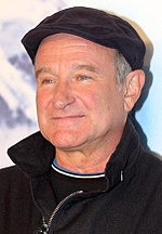 Photo o Robin Williams at the Happy Feet premiere in 2011.