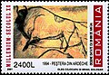 Romania stamp 2001 2400L Steppe Wisent Chauvet Cave.jpg