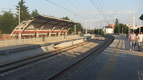 Romashkovo railway platform (view to south from west platform).JPG
