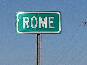 Rome, Mississippi - Image: Rome Highwaysign 2