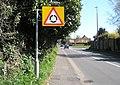 Roundabout ahead at Main Road, Yapton - geograph.org.uk - 1245871.jpg