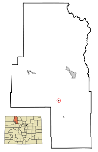 Routt County Colorado Incorporated and Unincorporated areas Oak Creek Highlighted.svg