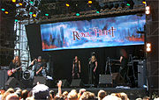 Royal Hunt performing at the Sweden Rock Festival in 2008.