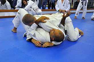 Side control - Royce Gracie demonstrating defense from the side control position.