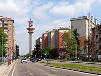 Rozzano - quartiere IACP - viale Don Angelo Lonni.JPG