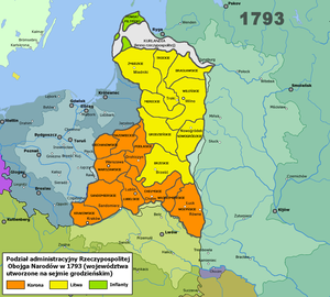 Administrative division of the Polish–Lithuanian Commonwealth - Image: Rpon 1793wojew