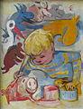 Rudolf Heinisch, Malendes Kind, 1950.jpg