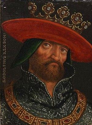 Rudolf I of Bohemia - 16th century portrait by Anton Boys