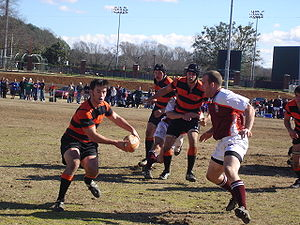 Clemson Rugby - Dutch Jones, Daniel Hare, Bryan Burton for Clemson against Virginia Tech in Spring 2006