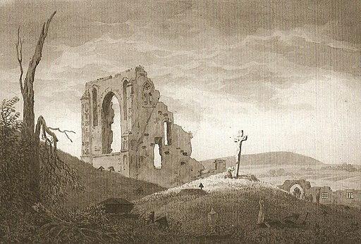 Ruine mit Begräbnis